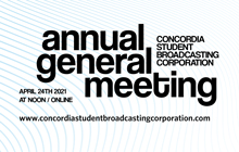 Concordia Student Broadcasting Annual General Meeting 2021!