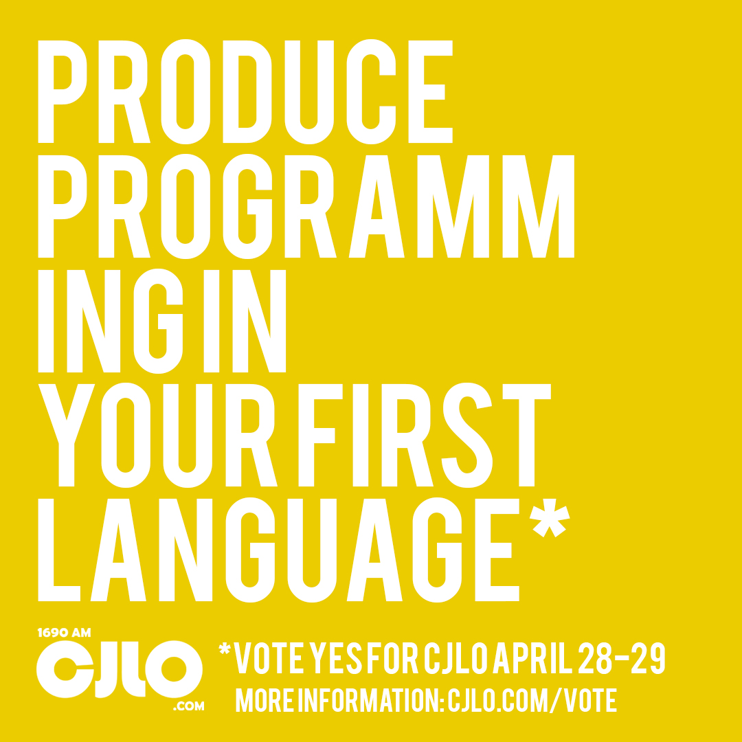 CJLO encourages on-air programming in all languages