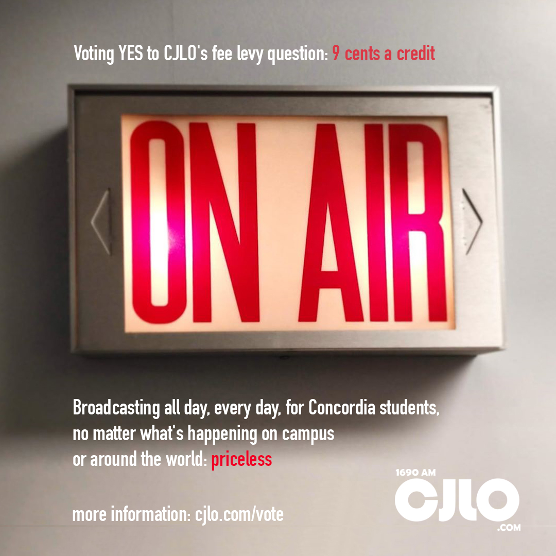 CJLO is on air for Concordia students all day, every day, no matter what